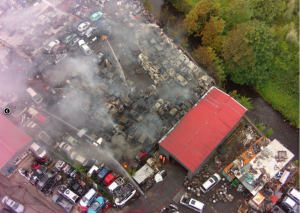 A fire as seen by different cameras on the drone. Photo: GMFRS