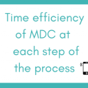 At which steps of your data collection is MDC more time efficient than paper-based data collection?