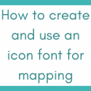 How to create and use an icon font for mapping: the use case of 3W maps