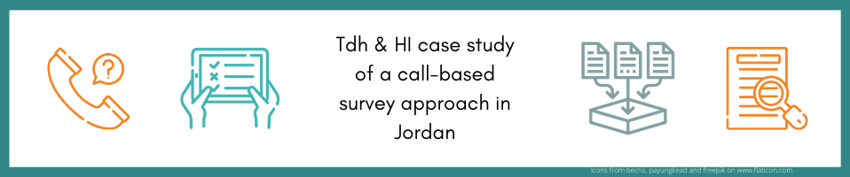 Terre des hommes and Humanity & Inclusion case study of a call-based survey approach in Jordan